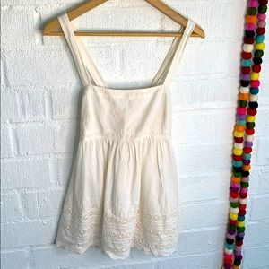 J. Crew Eyelet Embroidered Babydoll Tank Top sz 6